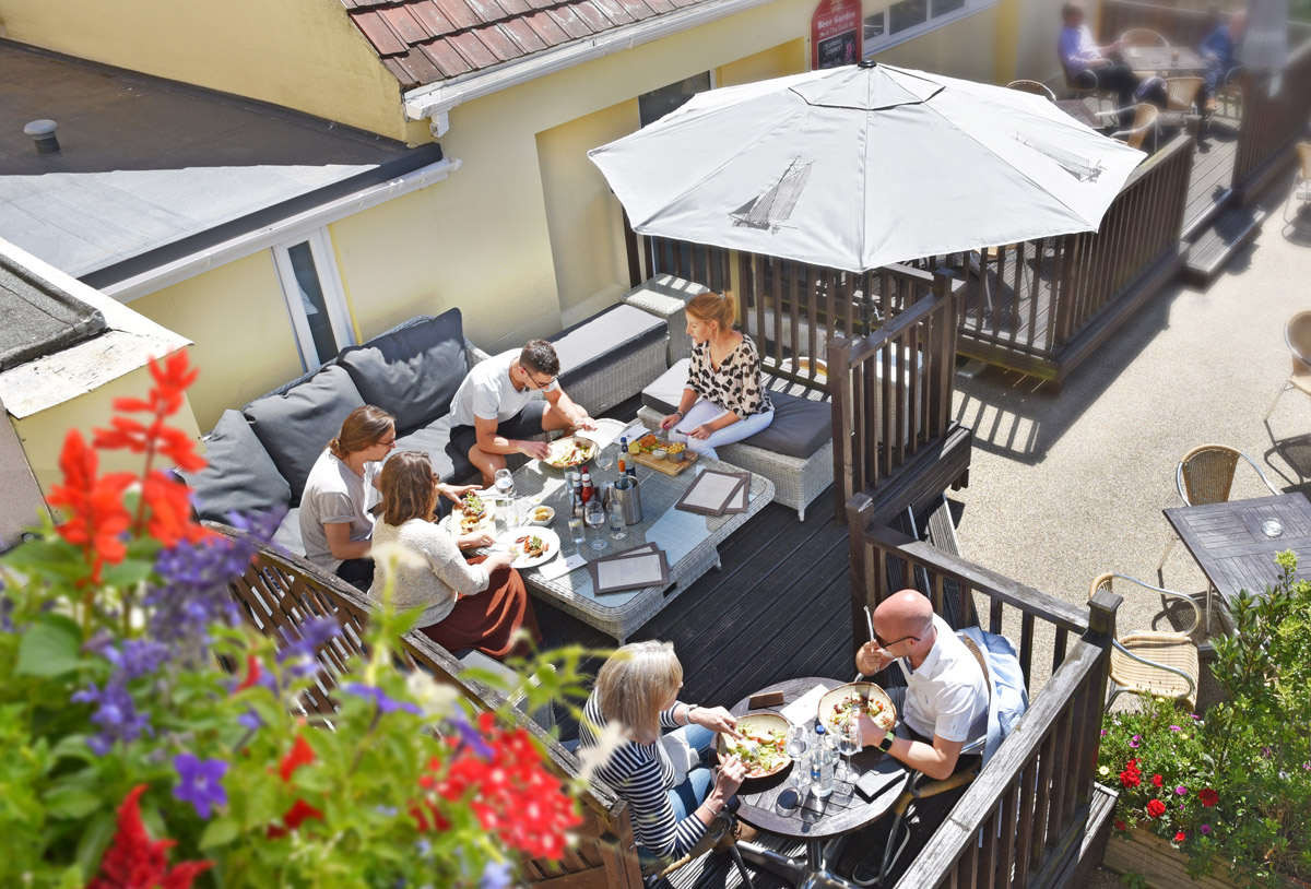 Duke of Normandie Al Fresco Dining St Peter Port Town Centre